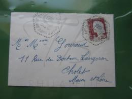 VEND TIMBRE DE FRANCE N° 1263 SUR LETTRE DE CHAMPS-SUR-LAYON !!! - Briefe U. Dokumente