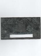 Plaque  Gravée  à L'envers  P Radio  P  Marconi  6 Cm  X 11 Cm - Cartelli Pubblicitari