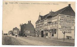 Coxyde Sur Mer / Koksijde - L'Hôtel De La Marine -la Maison Guilmot Et Le Bureau De Poste Et Telegraphes -NELS- Circulé - Koksijde