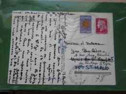 VEND N° 1536B SUR CP DE CHISONACCIA + VIGNETTE CORSE !!! - Briefe U. Dokumente