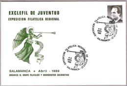 Matasellos Exp.Filatelica Regional De Juventud. Salamanca 1989 - 1931-Hoy: 2ª República - ... Juan Carlos I