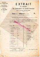 87 - SAINT JUNIEN- EXTRAIT REGISTRE MAIRIE CONSEIL MUNICIPAL-1951-MARTIAL PASCAUD MAIRE-DESROCHES-GAUDY-TINDON-MANEIX- - Documenti Storici