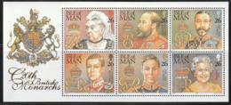 ILE De MAN - N°854/9 ** (1999) Monarques Britanniques - Isla De Man