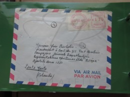 VEND LETTRE DE 1967 POUR LE BATEAU FORT CAROLINE A SANTA MARTA !!! (a) - Briefe U. Dokumente