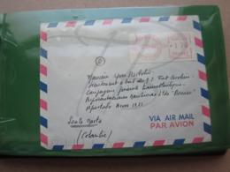 VEND LETTRE DE 1967 POUR LE BATEAU FORT CAROLINE A SANTA MARTA !!! (b) - Briefe U. Dokumente