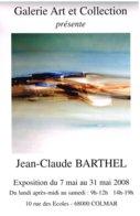 Affiche Exposition De Jean-Claude BARTHEL à Colmar Ft 32 X 45 Cm - Posters