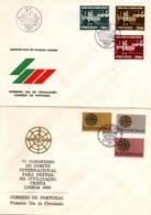 Civilizaçao Crista & Revoluçao Nacional - 2 FDC Lisboa  - Christianisme - Tracteur Pont Bridge - FDC