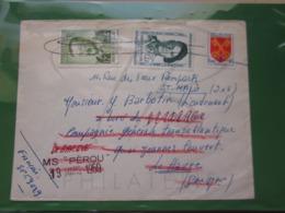 VEND N° 1047 + 1158 + 1166 SUR LETTRE POUR LE BATEAU PEROU !!! - Briefe U. Dokumente