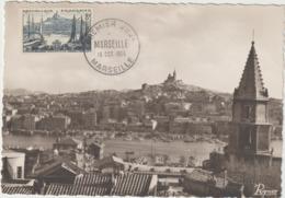 CARTE-MAXIMUM France N° Yvert 1037 (Marselle)  Obl 1er Jour (Ed Ryner) RR - 1950-59