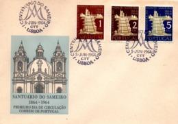 Santuario Do Sameiro 1964 - FDC Lisboa - Basilique église Church - FDC