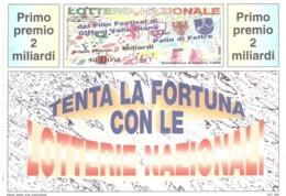 1990 £600 SAN FELICE CIRCEO SU CARTOLINA LOTTERIA NAZIONALE - Pubblicitari