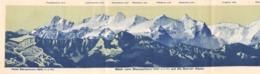 Luzern - Stanserhorn - Schweiz - Panorama Auf Die Berner Alpen - Fahrplan 1923 (plié  15 X 10.5 Cm) - Dépliants Turistici