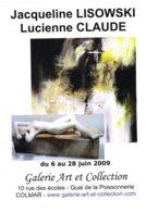 Affiche Exposition De Jacqueline LISOWSKI Et Lucienne CLAUDE à Colmar Ft 32 X 45 Cm - Sculptures