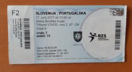 Handball Ticket IHF Qualification For EURO 2018 Slovenia : Portugal 17.6.2017 Koper Bonifika - Match Tickets