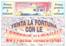 1992 £600  MARATEA SU CARTOLINA LOTTERIA NAZIONALE - Pubblicitari