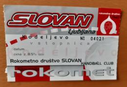 Ticket Handball Club RK Slovan Ljubljana Kodeljevo Slovenia - Match Tickets