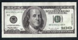 """Billet De Banque Publicitaire De 100 Dollars """"Phil Hagen Magicien / 100$"""" Pirate - Specimen"""