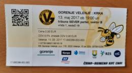 Ticket Handball Club Gorenje Velenje : Krka Novo Mesto 13.5.2017 Slovenian League Slovenia - Match Tickets