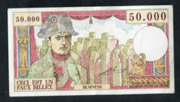 """Billet De Banque Fantaisie De 50000F (années 60) """"Ceci Est Un Faux Billet / Business"""" Napoléon - Specimen"""