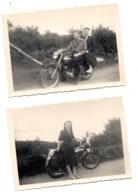 Photo De Famille Sur Moto Ancienne Motobécane ? YC Seine Et Oise - Old Paper