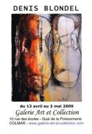 Affiche Exposition De Denis BLONDEL à Colmar Ft 32 X 45 Cm - Acrilici