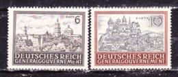 Germania1943 Occupazione Polonia  Castelli  Serie Completa Nuova MLLH - Germania