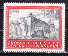 Germania1944 Occupazione Polonia  Castello Cracovia  Nuovo MLLH - Germania