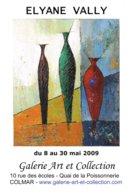 Affiche Exposition De ELYANE VALLY à Colmar Ft 32 X 45 Cm - Acryliques