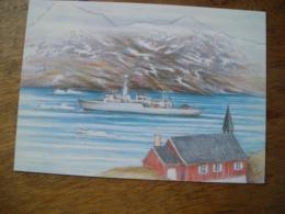 Répresentation Du Timbre,  Art Bateau Triton - Groenland