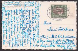 "Deutscher Katholikentag Köln 1956, 10 Pfg. BRD 239 Bahnpost-St. ""Koblenz - Giessen"", Ak Balduinstein Lahnblick, Randst. - BRD"