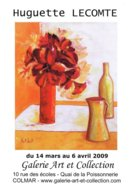 Affiche Exposition De Huguette LECOMTE à Colmar Ft 32 X 45 Cm - Plakate