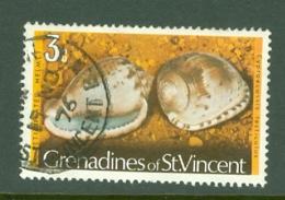 St Vincent Grenadines: 1974/77   Shells & Molluscs  SG37A    3c   [No Imprint Date]    Used - St.Vincent & Grenadines