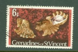 St Vincent Grenadines: 1974/77   Shells & Molluscs  SG40A    6c   [No Imprint Date]    Used - St.Vincent & Grenadines