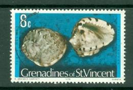 St Vincent Grenadines: 1974/77   Shells & Molluscs  SG41B    8c   [imprint Date '1976']    Used - St.Vincent & Grenadines