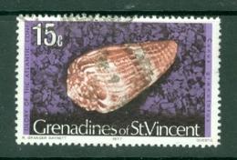 St Vincent Grenadines: 1974/77   Shells & Molluscs  SG44B    15c   [imprint Date '1977']    Used - St.Vincent & Grenadines