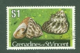 St Vincent Grenadines: 1974/77   Shells & Molluscs  SG50A    $1   [No Imprint Date]    Used - St.Vincent & Grenadines
