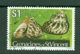 St Vincent Grenadines: 1974/77   Shells & Molluscs  SG50B    $1   [imprint Date '1976']    Used - St.Vincent & Grenadines