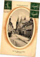 CPA CHATILLON-COLIGNY-Rue De L'Église Et Clocher (264585) - Chatillon Coligny
