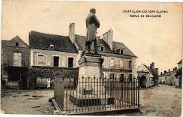 CPA CHATILLON-COLIGNY-Statue De Becquerel (264593) - Chatillon Coligny