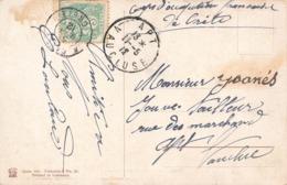 Crete Corps D' Occupation Française 1912 + Timbre Cachet 5 Mai à Destination Apt Vaucluse 11 Mai Sur Carte Postale - Crète (1902-1903)