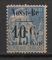 Nossi-Bé - 1891 - Taxe TT N° Yv. 12 - 10c Sur 15c Bleu - Neuf * / MH VF - Neufs