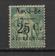 Nossi-Bé - 1891 - Taxe TT N° Yv. 14 - 25c Sur 5c Vert - Neuf * / MH VF - Neufs