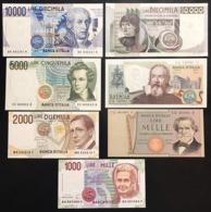 Lotto 7 Banconote Da 1000 A 10000 Lire Q.fds/fds  LOTTO.2767 - Italien