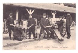 CARTE PHOTO CHARGEMENT D'UNE PIECE DE 75MM 1915 - Other Wars