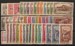 Réunion - 1943 - N°Yv. 187 à 232 - France Libre - Série Complète - Neuf * / MHVF - Réunion (1852-1975)