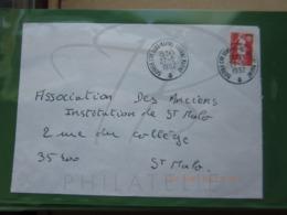 VEND N° 2720 SUR LETTRE DU CENTRE DE SOUS-MARINS DE LORIENT !!! - Briefe U. Dokumente
