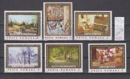 39K98 / 1987 - Michel  Nr. 4332/37 - Paintings A. Ciucurencu S. Dimitrescu S. Luchian .... ** MNH Romania Roumanie - 1948-.... Repubbliche