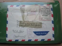 VEND N° 1408 SUR LETTRE POUR LE BATEAU FORT D ' ORLEANS , 1° LIAISON PARIS - FORT DE FRANCE PAR BOEING 707 !!! - Briefe U. Dokumente