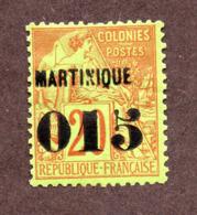 Martinique N°6 N* TB  Cote 90 Euros !!!RARE - Martinica (1886-1947)