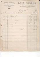 71 Le Creusot  Louis Chevrier  Note De Commission  Pour Charles Chevrier 1902 - Banque & Assurance
